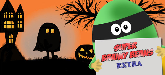Spooky Halloween image with Super Brainy Beans